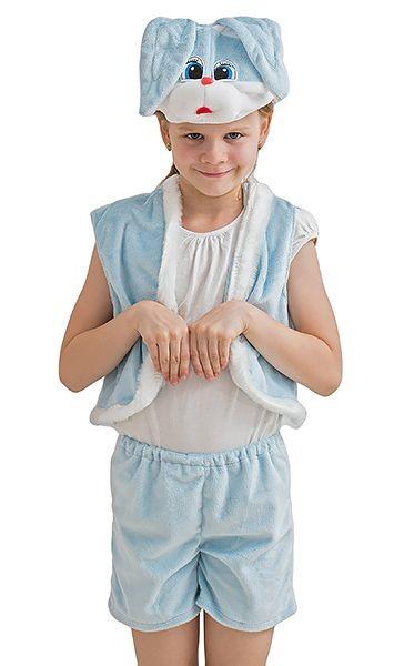 Карнавальный костюм Зайчик, голубой, 3-7 лет