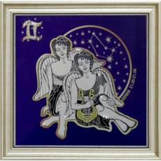 Картина с кристаллами Swarowski Звездные близнецы