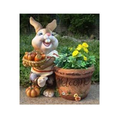 Кашпо «Кролик с овощами»