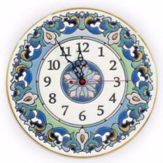 Голубые настенные часы (керамика)