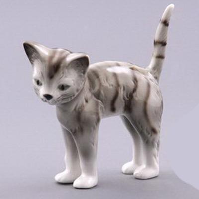 Фигурка фарфоровая «Полосатая кошка»