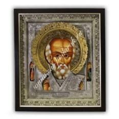 Икона с позолотой Николай Чудотворец