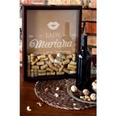 Рамка-копилка для пробок с Вашим текстом Любителю вина