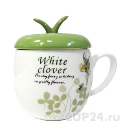 Кружка «Яблоко-белый клевер» с крышкой