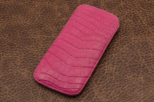 Чехол из кожи каймана для iPhone 6 Пурпурный гавиал