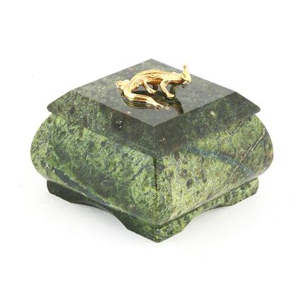 Шкатулка для драгоценностей из змеевика «Сундучок»
