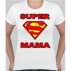 Женская футболка белая Super мама