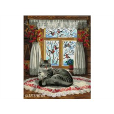 Картина по номерам Артвентура «Зима за окном-2. Пробуждение»