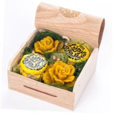 Подарочный набор на основе меда Две розы