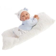Кукла-младенец с озвучиванием Ману в голубом