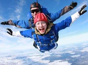 Сертификат Прыжок с парашютом в тандеме с фото- и видео