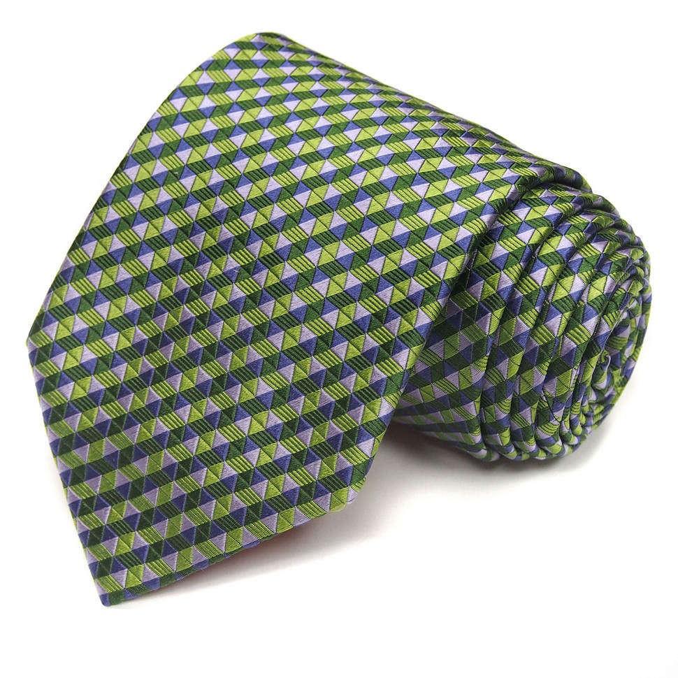Стильный мужской галстук в тонкую полоску Christian Lacroix
