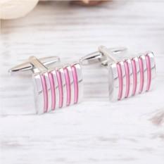 Запонки «Розовая полоска»