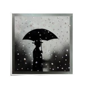 Картина с кристаллами Swarovski «Под дождем»