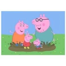 Картина-раскраска по номерам на холсте Свинка Пеппа