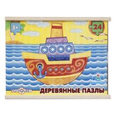 Деревянный сборный пазл «Кораблик»