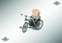 Серебряная подставка «Велосипед»