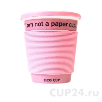 Розовая Eco кружка I'm not a paper cup