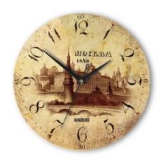 Круглые античные настенные часы Москва. Кремль