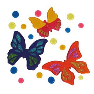 Бабочки с блестками