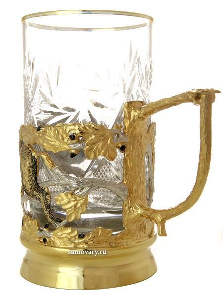 Чайный позолоченный набор Кабан