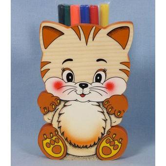 Подставка для карандашей «Котик»