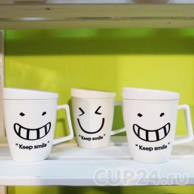 Набор из 3 кружек Keep smile