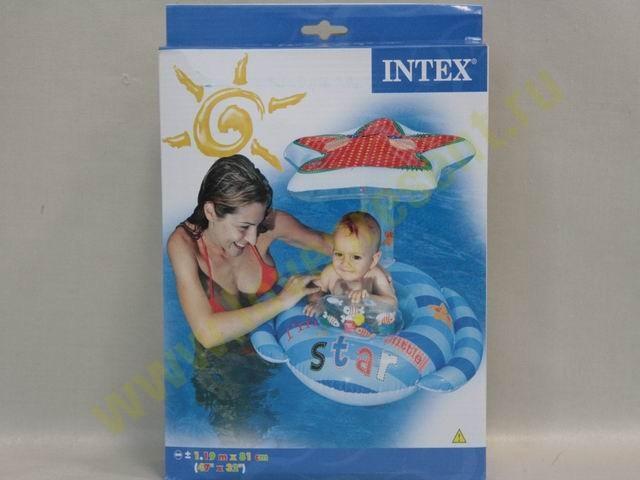 Плотик детский с навесом Звездочка, Intex