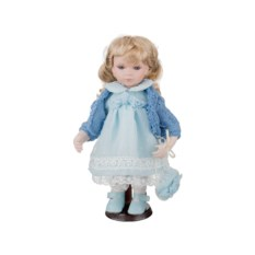 Фарфоровая кукла Анабель с мягконабивным туловищем