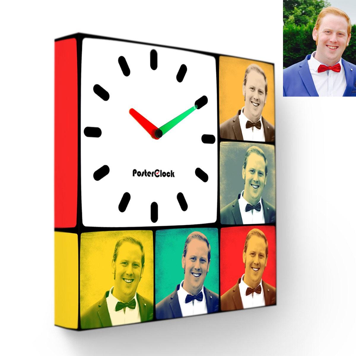 Часы с вашими фото в стиле Pop-art