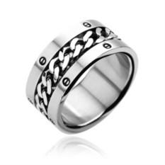 Мужское кольцо из стали Spikes Цепь