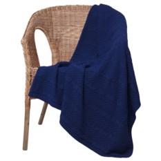 Темно-синий плед Comfort Up