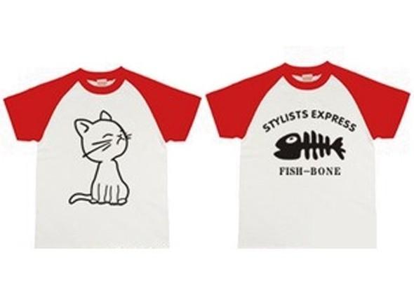 Парные футболки Кот и рыбка