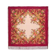 Павловопосадский шерстяной платок Изысканный