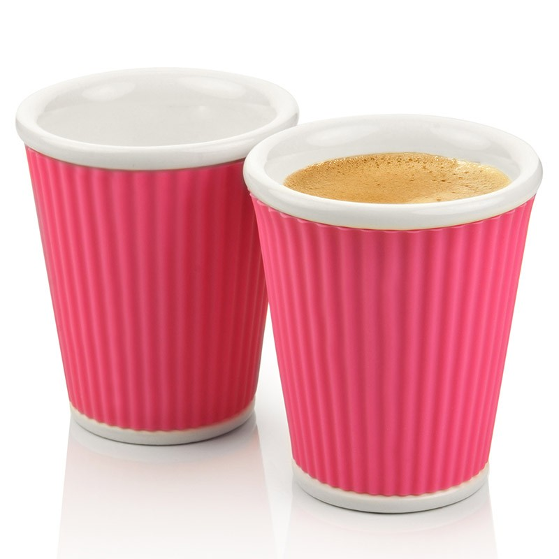 Набор чашек Ondules 180 мл, розовый