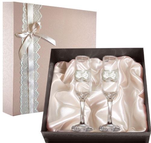 Набор свадебных бокалов №43 в подарочной коробке