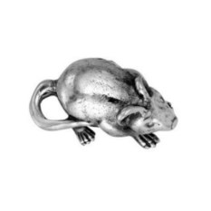 Сувенир Кошельковая мышь (серебро)