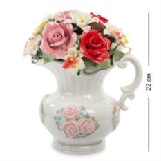 Фарфоровая музыкальная композиция Кувшин с цветами