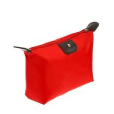 Косметичка-сумочка на молнии (цвет: красный)