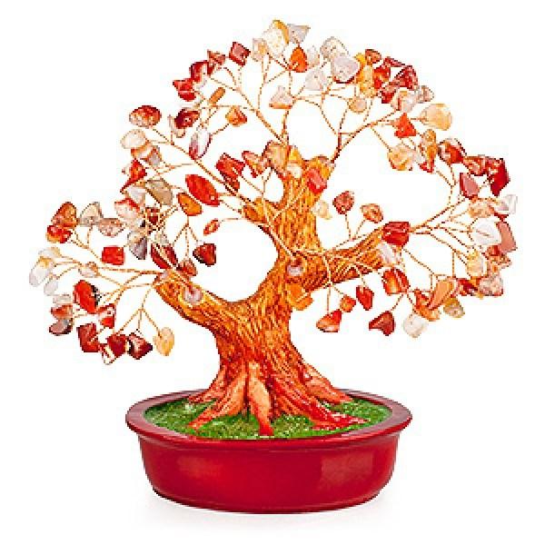 Бонсай (20 см) Сердолик (дерево счастья из натуральных камней)