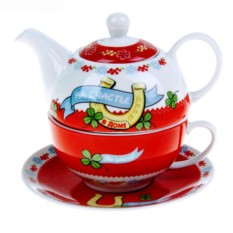 Подарочный чайный набор на 1 персону «На счастье в доме»