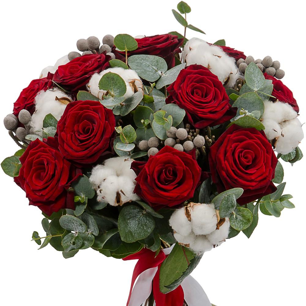 Букет цветов Зимняя ягода