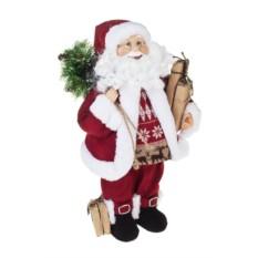 Новогоднее украшение Красный Дед Мороз с подарками