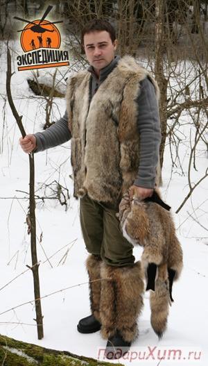 Жилет «Матерый» из меха волка
