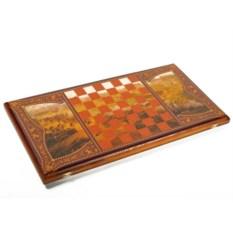 Малые нарды в деревянном коробе Гусарские
