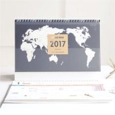 Синий календарь-планинг 2017 World Wide