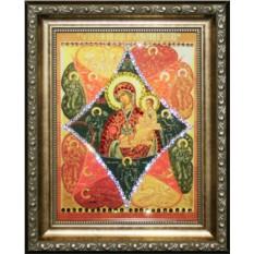 Икона Божией Матери Неопалимая купина Swarovski