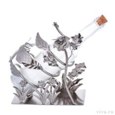 Стальной держатель для бутылок «Цветущее поле»