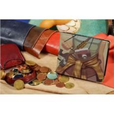 Кожаное портмоне с принтом Фотограф