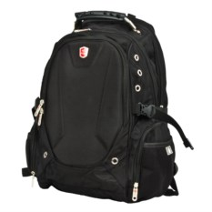 Модный черный рюкзак для ноутбука